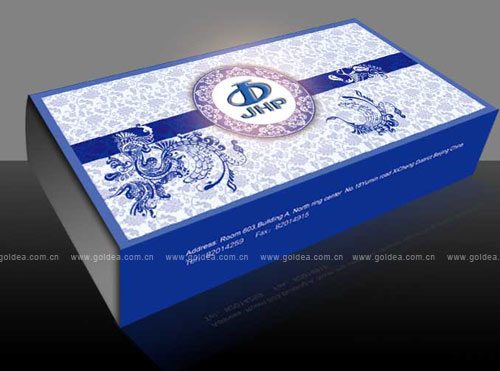 jhp石油公司礼品笔纸盒包装设计